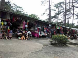 Shops where you can buy  shirts, tapestries, food etc..